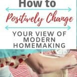 retro housewife baking in the kitchen. Why modern homemaking isn't what you think.