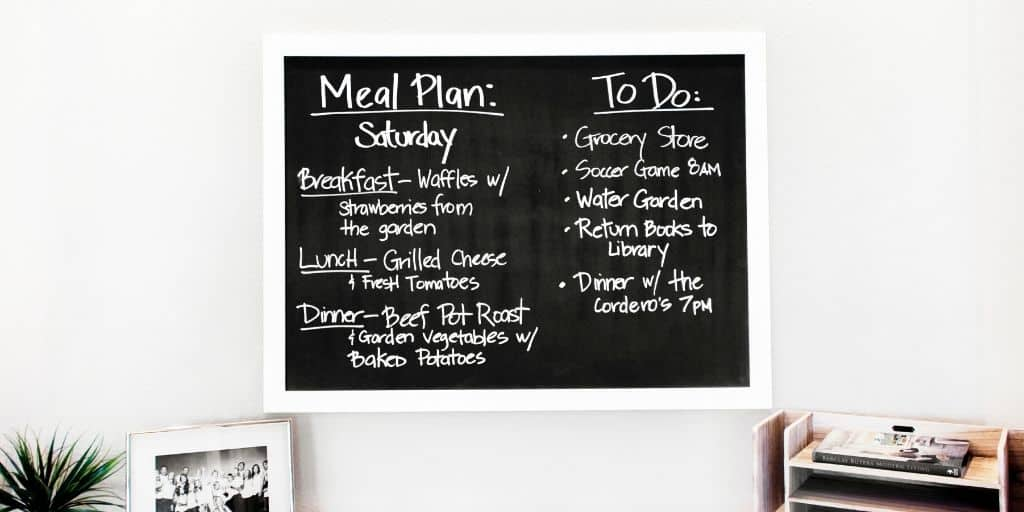 Healthy Homemaking habits start with a plan
