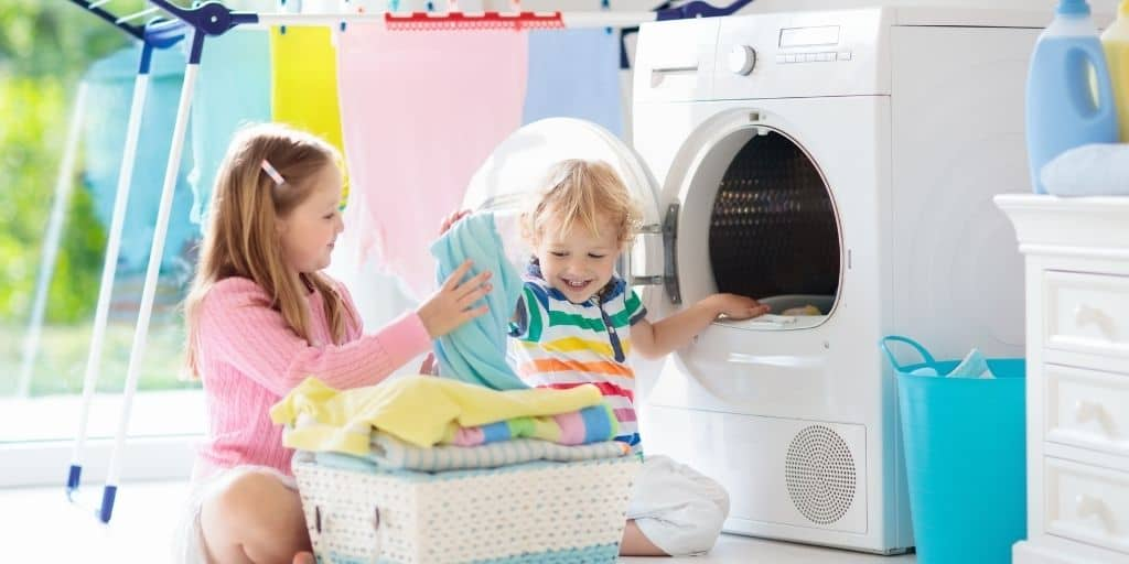 laundry solutions to get kids involved with folding their own laundry