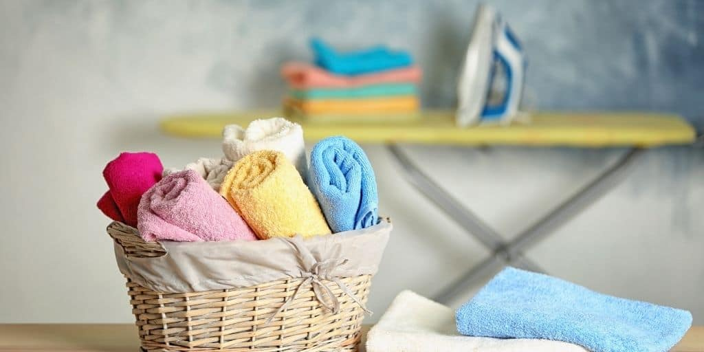 Laundry solutions for every laundry problem. a basket of nicely folded towels