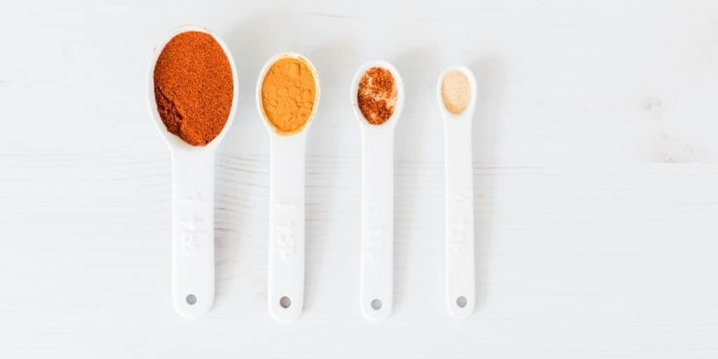 set of measuring spoons. Pantry inventory