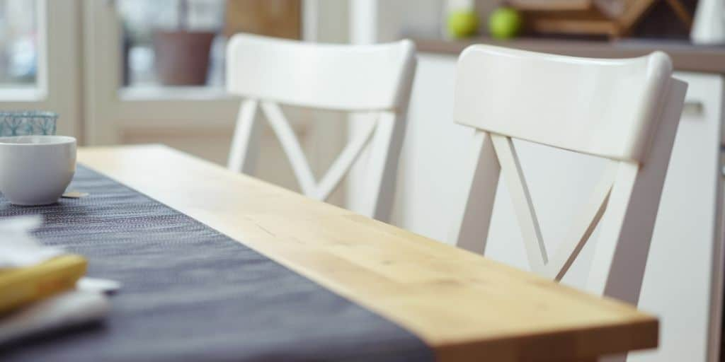 Table and chairs, neat and tidy homemaking